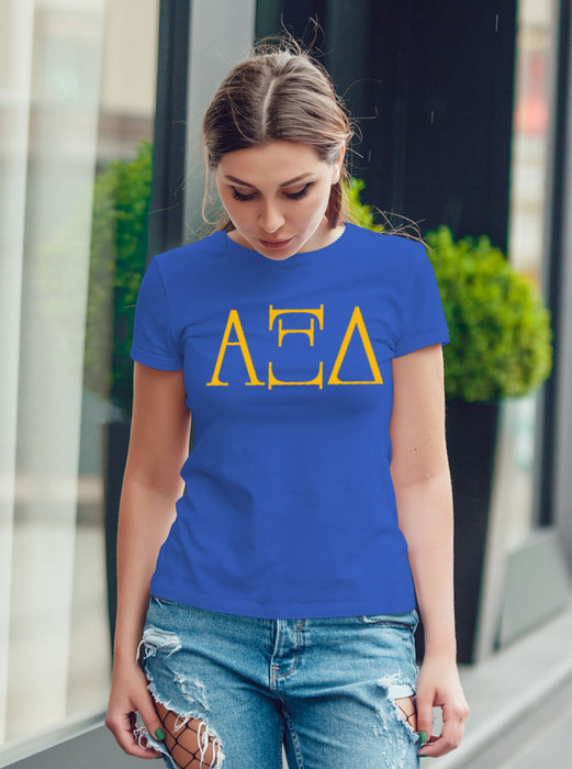 Alpha Xi Delta University Letter T-Shirt