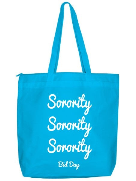 Sorority Zippered Poly Tote