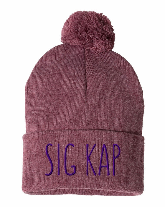 Sigma Kappa Sorority Beanie With Pom Pom