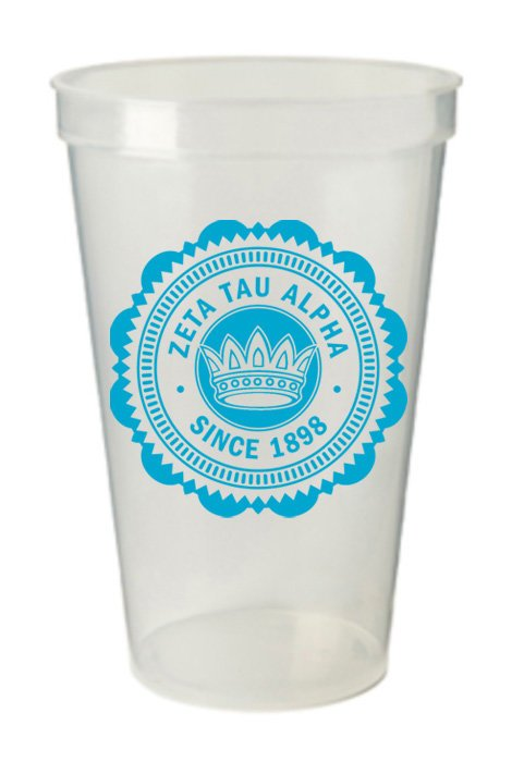 Zeta Tau Alpha Classic Oldstyle Giant Plastic Cup