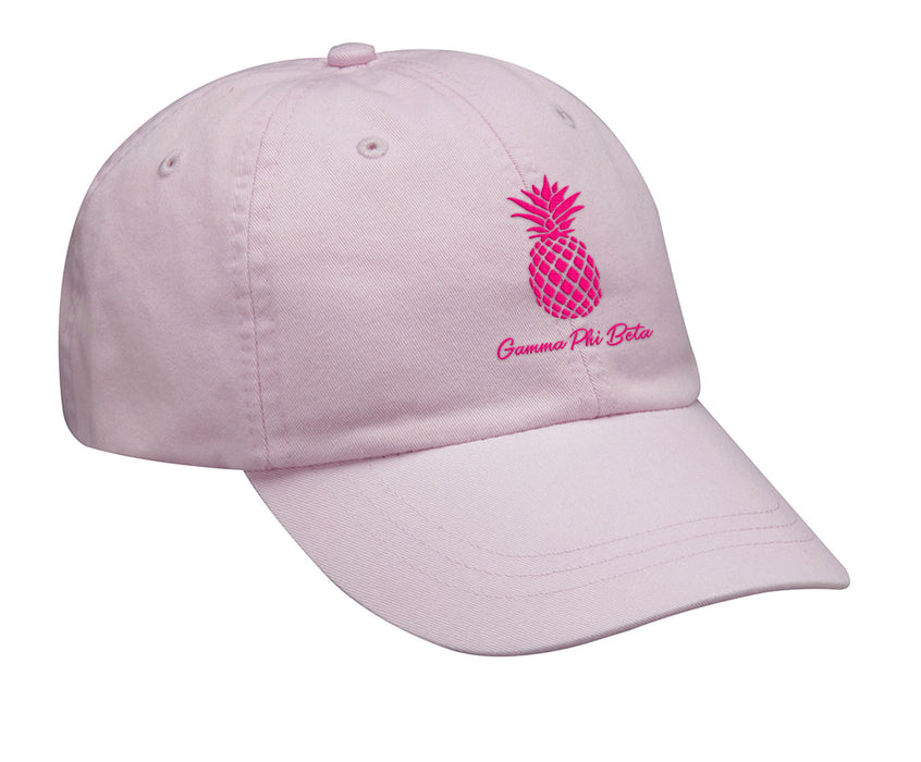 Gamma Phi Beta Pineapple Embroidered Hat