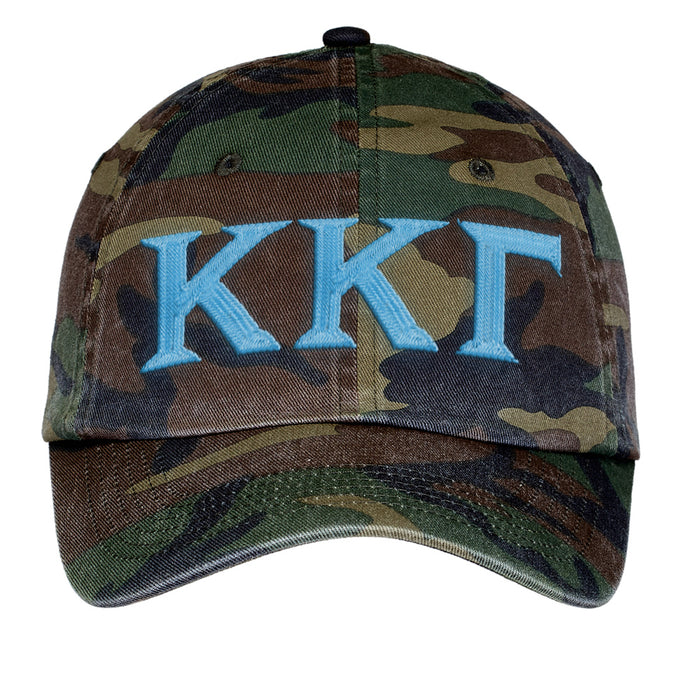 Kappa Kappa Gamma Letters Embroidered Camouflage Hat