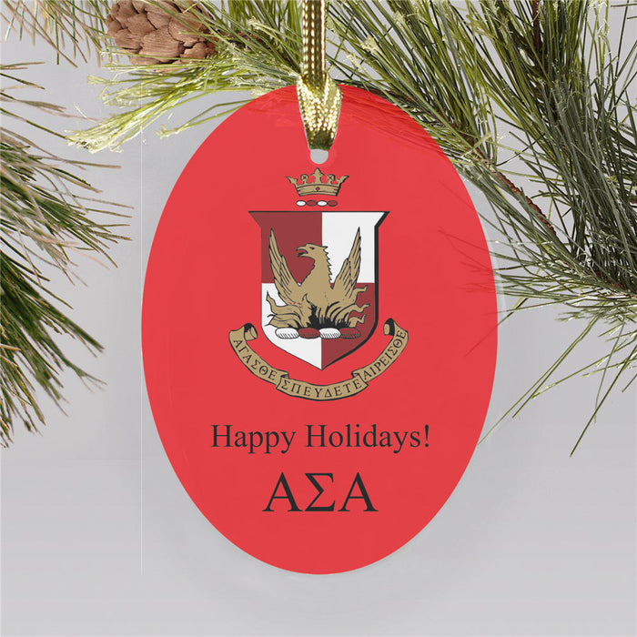 Alpha Sigma Alpha Color Crest Ornament