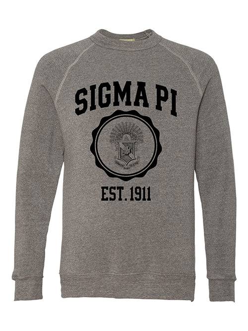 Sigma Pi Alternative Eco Fleece Champ Crewneck Sweatshirt