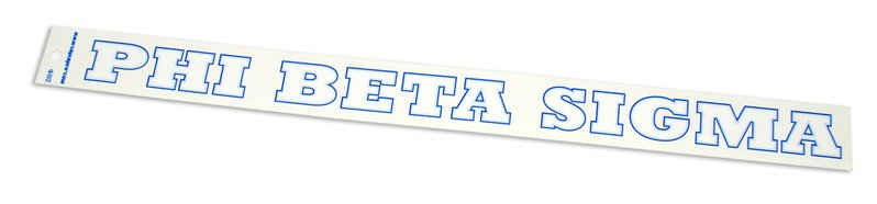 Phi Beta Sigma Back Of The Window Long Sticker