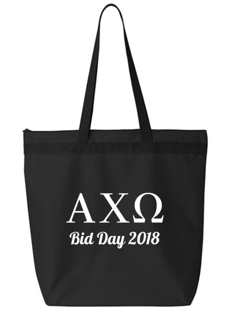 Alpha Chi Omega Roman Letters Event Tote Bag