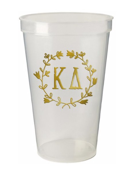 Kappa Delta Wreath Giant Plastic Cup