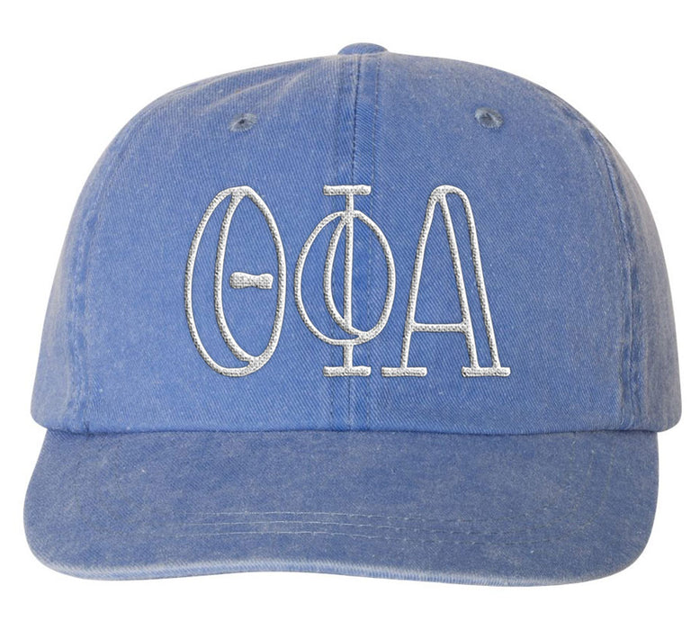 Theta Phi Alpha Sorority Greek Carson Embroidered Hat