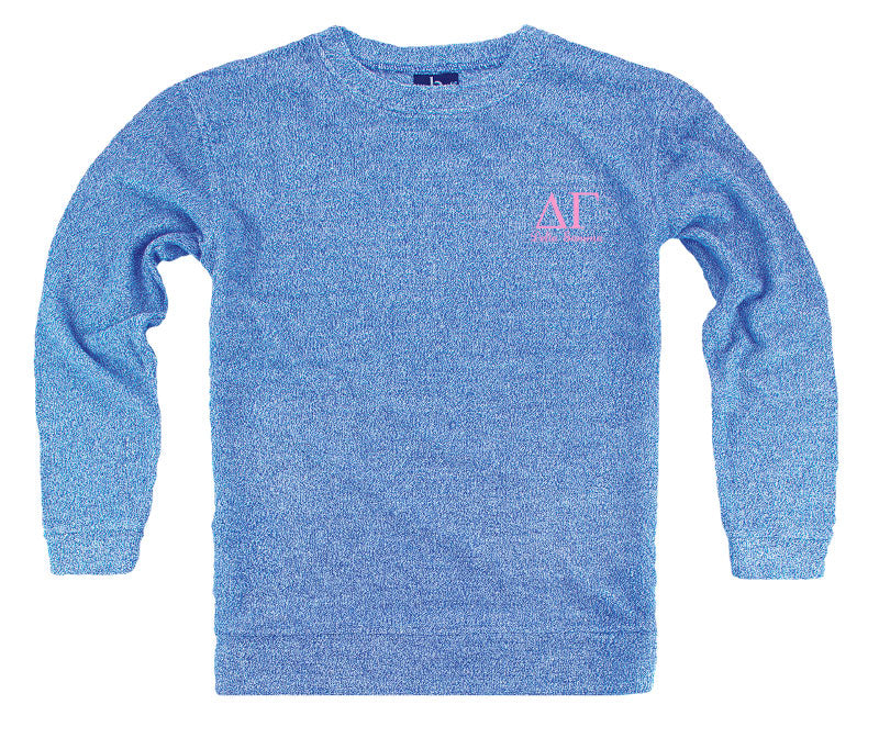 Delta Gamma Lettered Cozy Sweater
