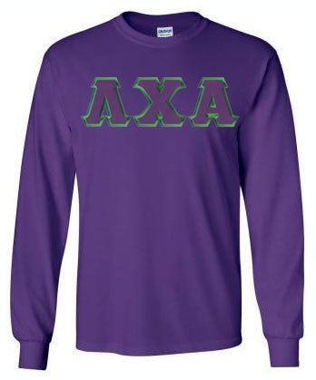 Lambda Chi Alpha Long Sleeve Greek Lettered Tee