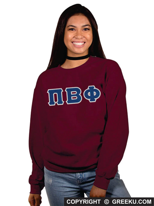 Pi Beta Phi Classic Colors Sewn-On Letter Crewneck