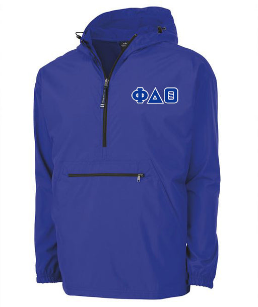 Phi Delta Theta Embroidered Pack and Go Pullover