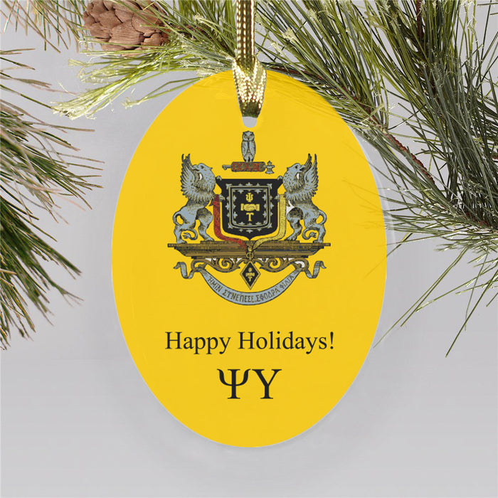 Psi Upsilon Color Crest Ornament