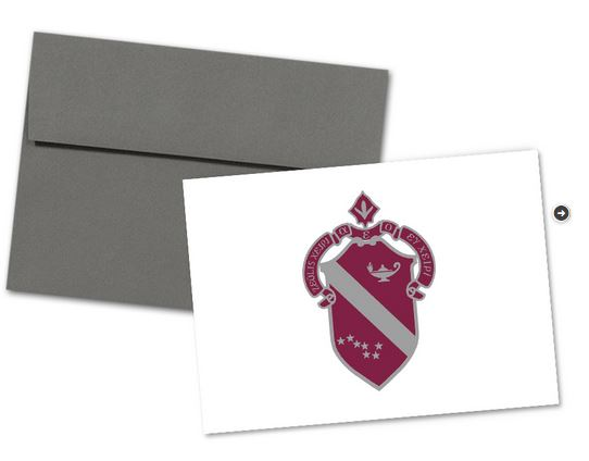 Alpha Phi Sorority Crest Note Cards