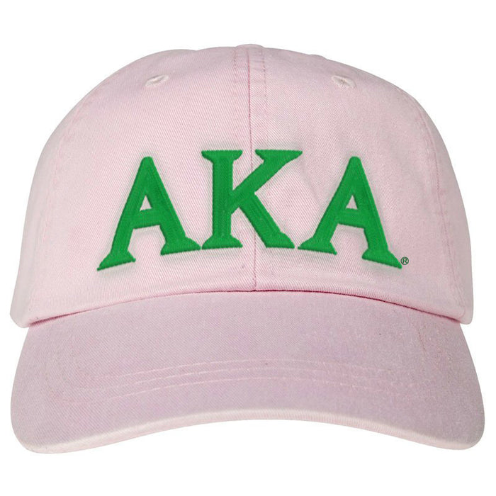 Alpha Kappa Alpha (2) Greek Letter Embroidered Hat