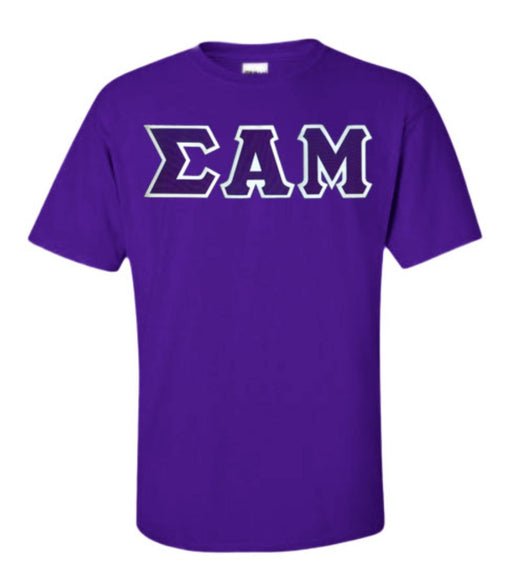 Sigma Alpha Mu Lettered T Shirt