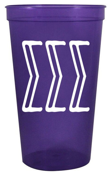 Sigma Sigma Sigma Inline Giant Plastic Cup