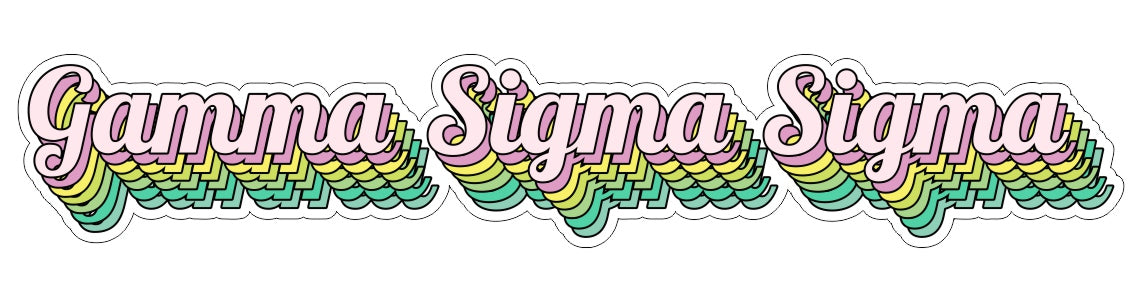 Gamma Sigma Sigma New Hip Stepped Sticker