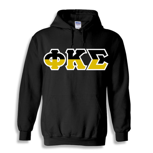 Phi Kappa Sigma Two Toned Lettered Hooded Sweatshirt