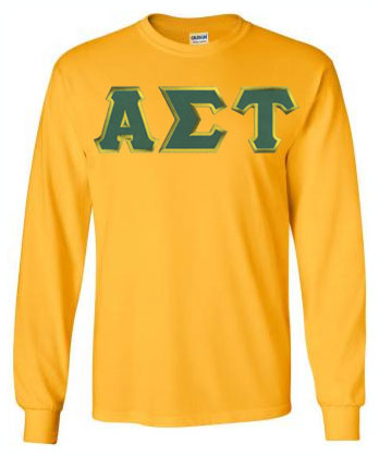 Alpha Sigma Tau Long Sleeve Greek Lettered Tee