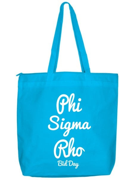 Phi Sigma Rho Zippered Poly Tote