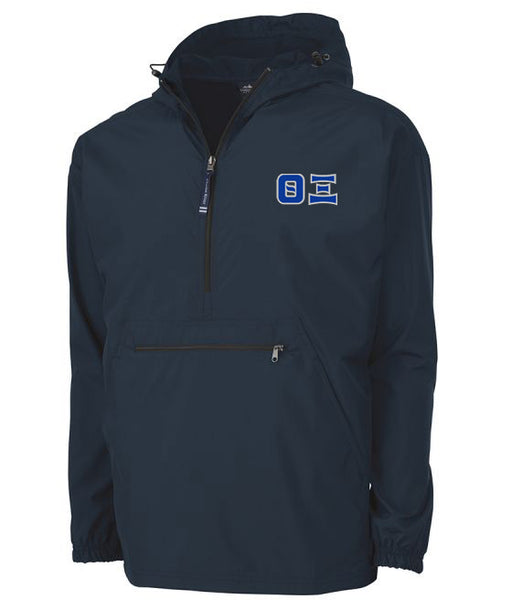 Theta Xi Embroidered Pack and Go Pullover