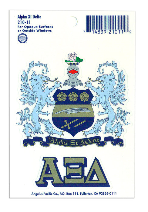 Alpha Xi Delta Crest Decal