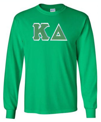 Kappa Delta Long Sleeve Greek Lettered Tee