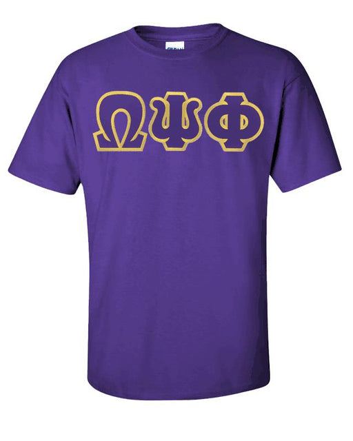 Omega Psi Phi Lettered T Shirt