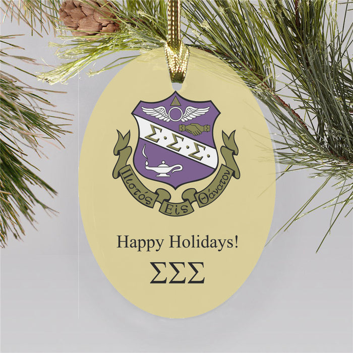 Sigma Sigma Sigma Color Crest Ornament