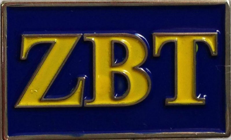 Zeta Beta Tau Fraternity Flag Pin