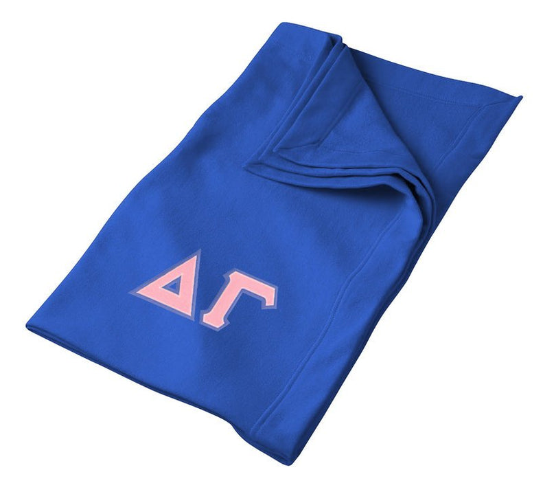 Delta Gamma Greek Twill Lettered Sweatshirt Blanket