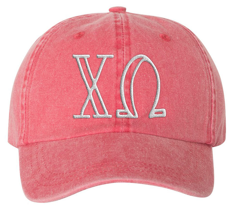 Chi Omega Sorority Greek Carson Embroidered Hat