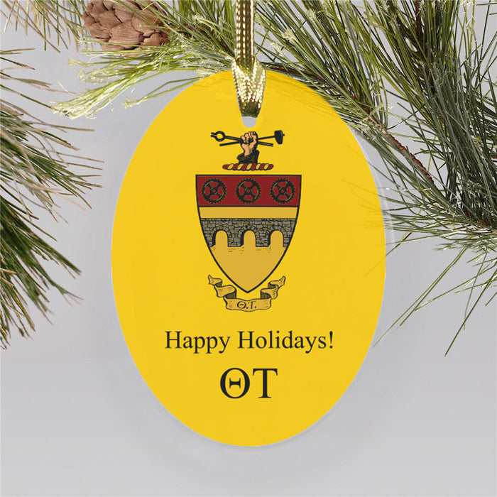 Theta Tau Color Crest Ornament
