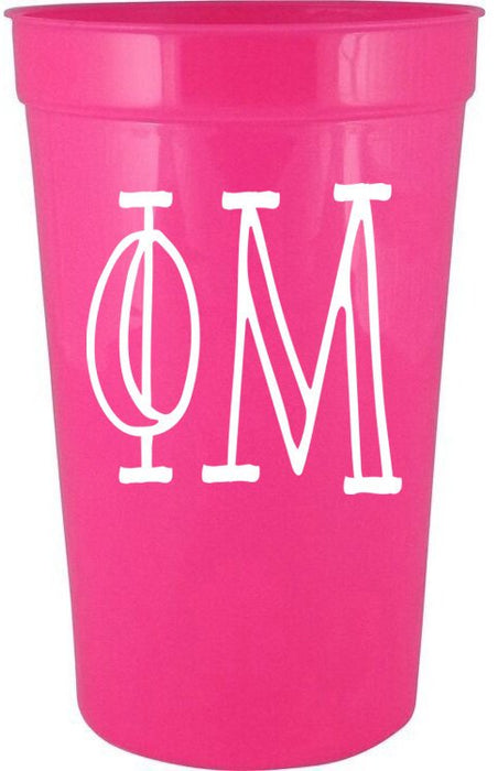 Phi Mu Inline Giant Plastic Cup