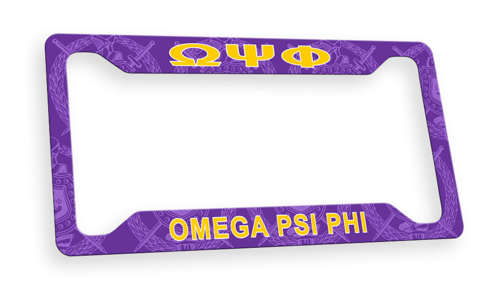 Omega Psi Phi New License Plate Frame