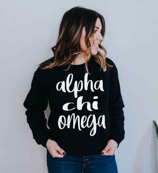 Alpha Chi Omega Superscript Crewneck Sweatshirt