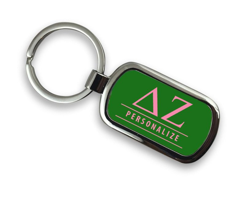 Delta Zeta Chrome Key Chain