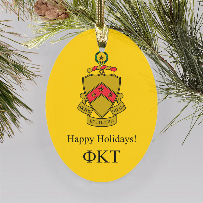 Phi Kappa Tau Color Crest Ornament