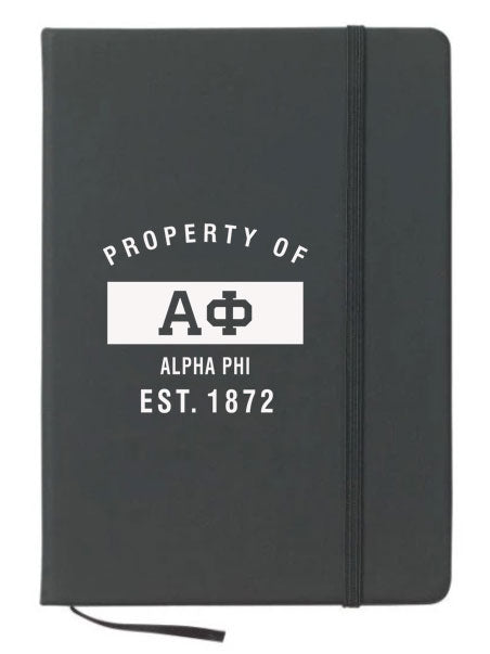 Alpha Phi Property of Notebook