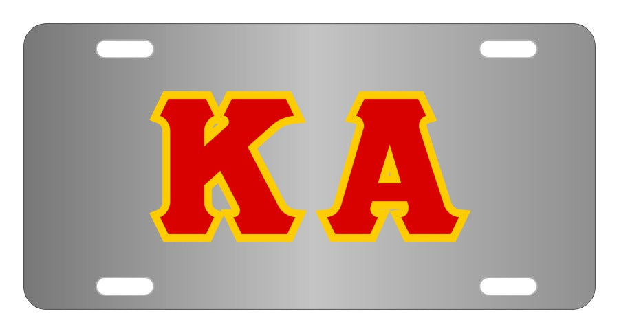 Kappa Alpha Fraternity License Plate Cover