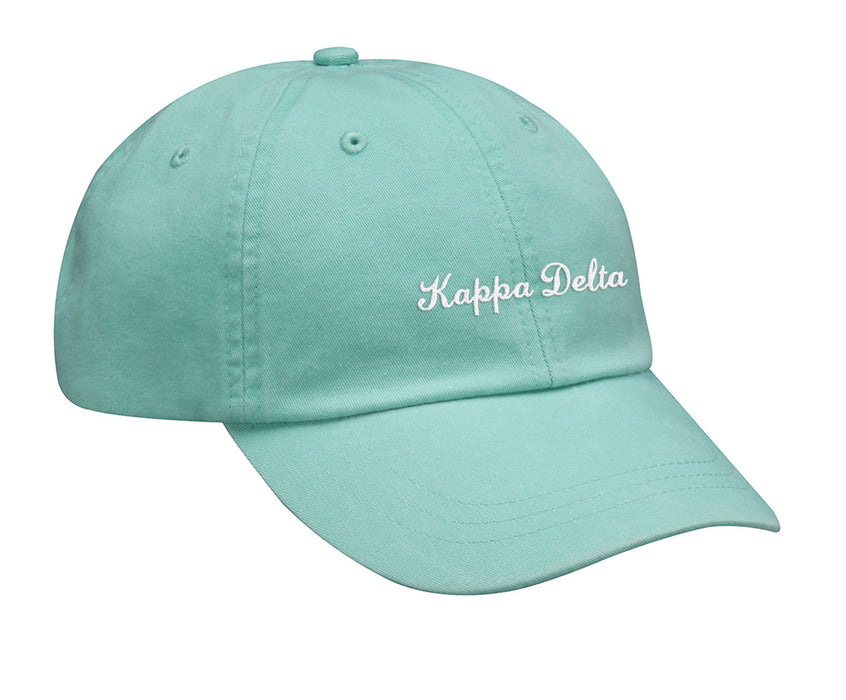 Kappa Delta Cursive Embroidered Hat