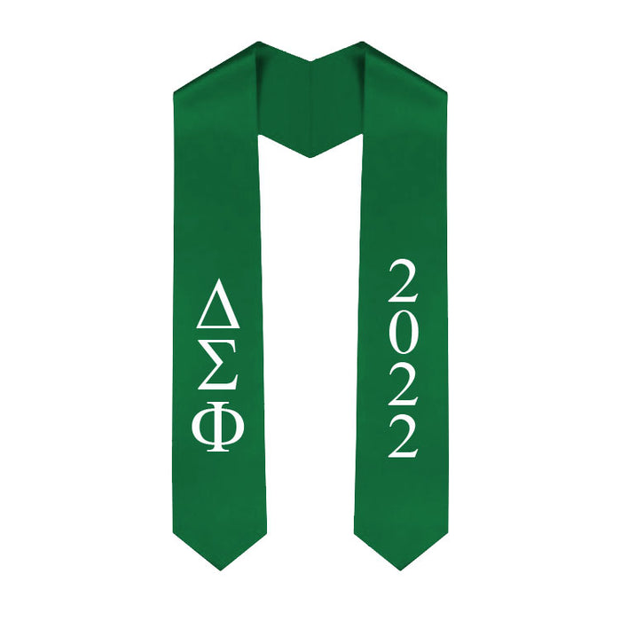 Delta Sigma Phi Vertical Grad Stole with Letters & Year
