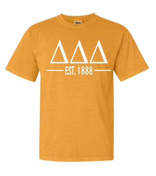 Delta Delta Delta Comfort Colors Established Sorority T-Shirt