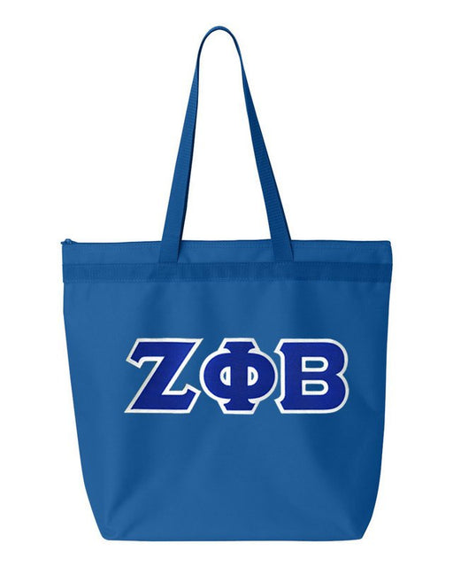 Zeta Phi Beta Greek Lettered Game Day Tote