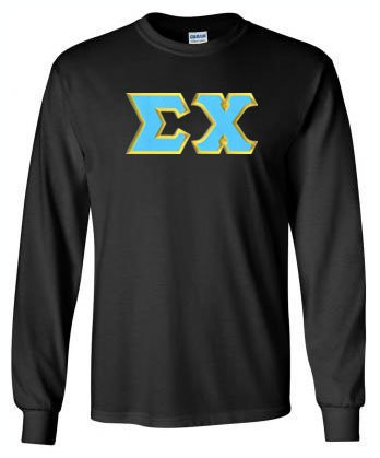 Sigma Chi Long Sleeve Greek Lettered Tee