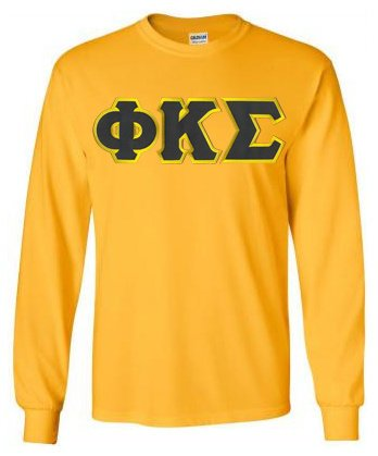 Default Long Sleeve Greek Lettered Tee