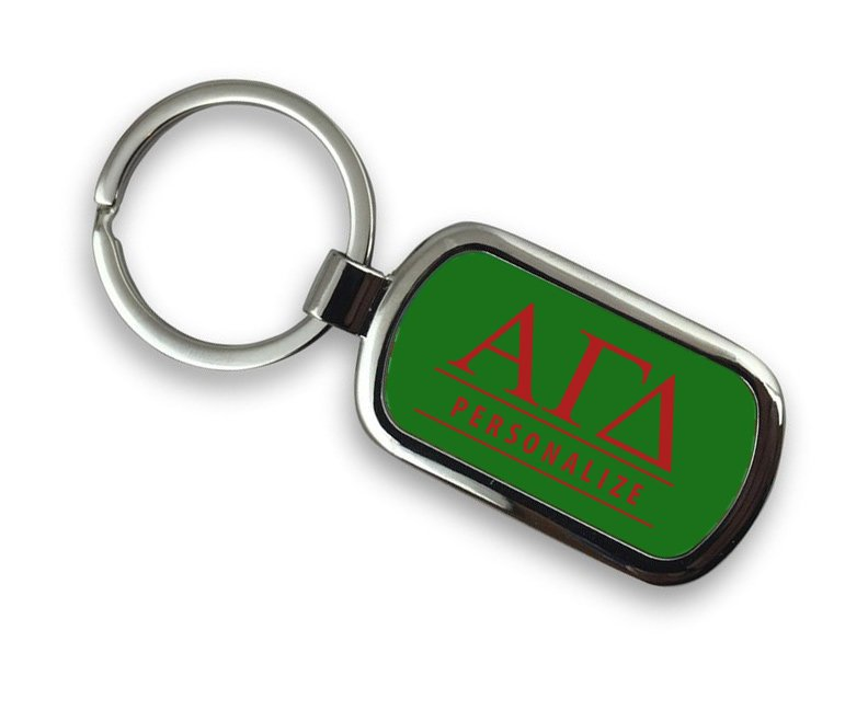 Alpha Gamma Delta Chrome Key Chain