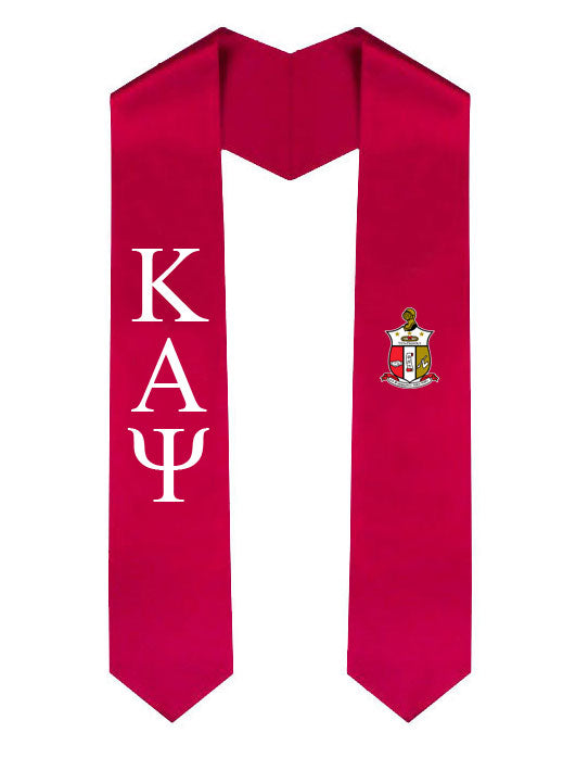 Kappa Alpha Psi Lettered Graduation Sash Stole with Crest