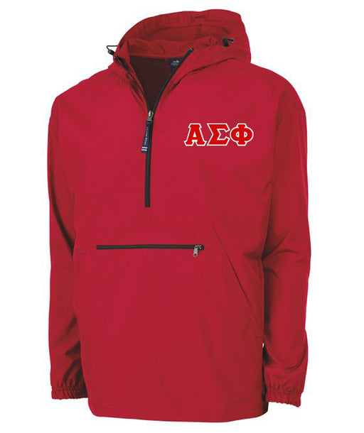 Alpha Sigma Phi Embroidered Pack and Go Pullover